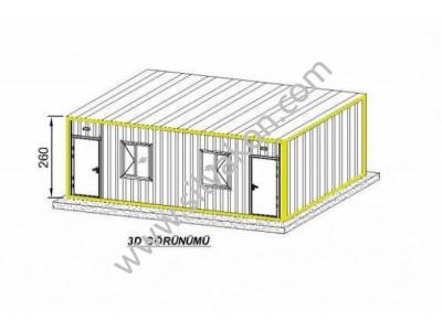 3x7 Çift Odalı Prefabrik Ev
