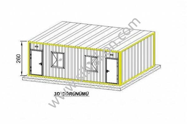 3x7 Çift Odalı Prefabrik Ev 02