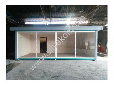 3x7m Full Camlı Ofis