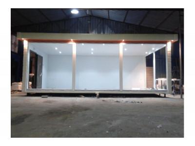 7x3m İçi Boş Fugalı Süperlüks, Full Camlı Ofis