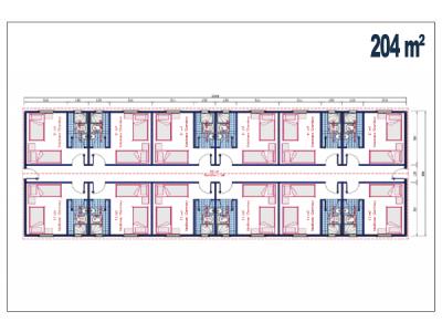 204 M2 Şantiye Birleşim Konteyner