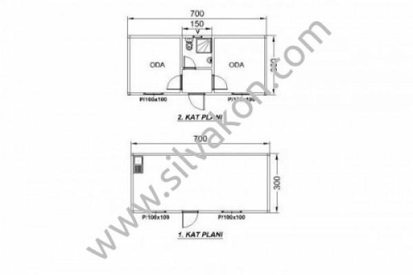 Ranza 120 Prefabrik Şantiye Binası 02