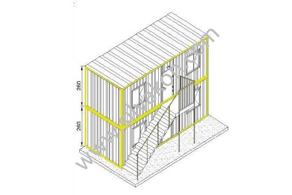 Ranza 120 Prefabrik Şantiye Binası 01