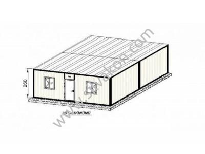 6X7 TEK ODA Prefabrik Şantiye Binası