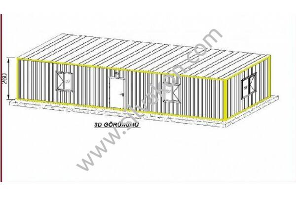 TREN 3X12 Prefabrik Şantiye Binası 01