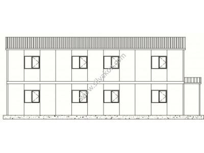 199m² Çift Katlı Prefabrik Ofis