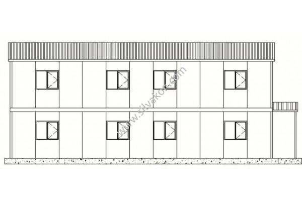 199m² Çift Katlı Prefabrik Ofis 03