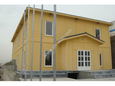 İki Katlı Prefabrik Ofisler