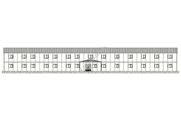 1140 m2 İki katlı Prefabrik ofis 01