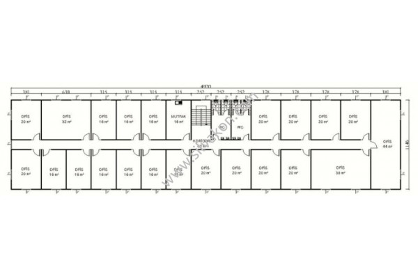1140 m2 İki katlı Prefabrik ofis 02