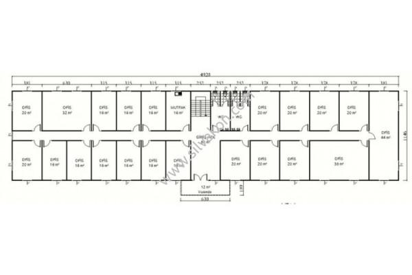 1140 m2 İki katlı Prefabrik ofis 03