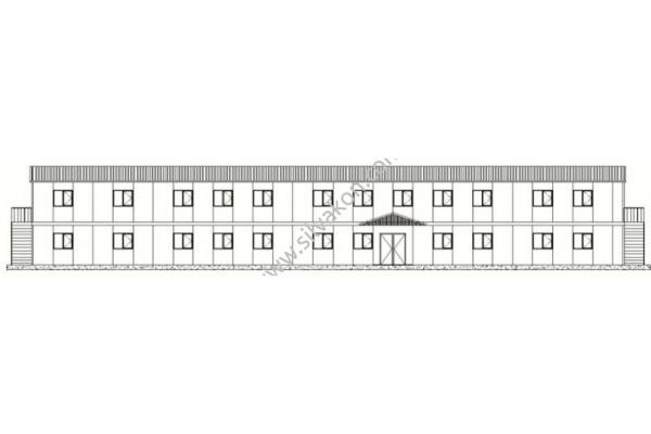 717 m2 iki Katlı Prefabrik Ofis 02